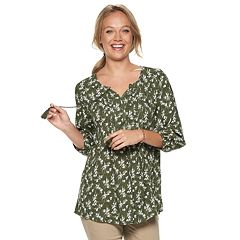 Women's SONOMA Goods for Life™ Printed Pintuck Peasant Top