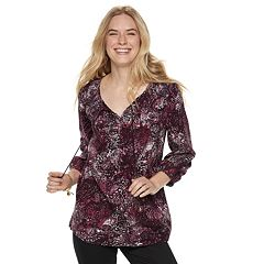 f7f72b0e1d5 Women s SONOMA Goods for Life™ Printed Pintuck Peasant Top