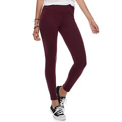 Juniors' Mudd High-Waisted Ponte Leggings