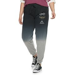 Juniors' Plus Size Harry Potter Icons Dip-Dyed Jogger Sweatpants
