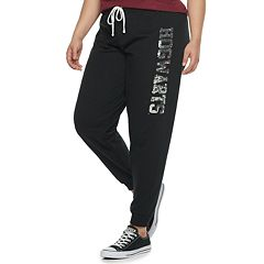 Juniors' Plus Size Harry Potter Hogwarts Sequin Jogger Sweatpants
