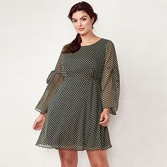 Plus Size LC Lauren Conrad Bell Sleeve Dress