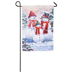 Snowman Sweetheart Indoor / Outdoor Garden Flag