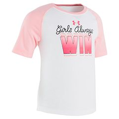 Toddler Girl Under Armour 'Girls Always Win' Performance Tee