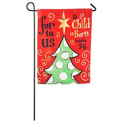 'A Child Is Born' Christmas Indoor / Outdoor Garden Flag