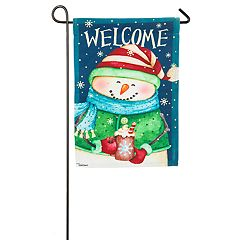 'Welcome' Ready Set Snow Indoor / Outdoor Garden Flag