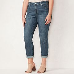 Plus Size LC Lauren Conrad Love, Lauren Cuffed Ankle Skinny Jeans