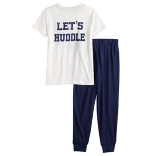 Girls 4-16 Jammies For Your Families Sunday Funday Top & Jogger Pants Pajama Set by Cuddl Duds