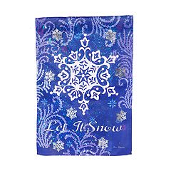 'Let It Snow' Glitter Snow Indoor / Outdoor Garden Flag