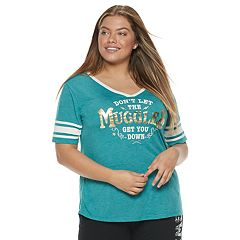 Juniors' Plus Size Harry Potter 'Muggles' Football Graphic Tee