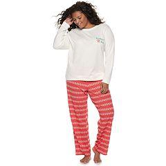 Plus Size SO® Cozy 2-pc. Pajama Set