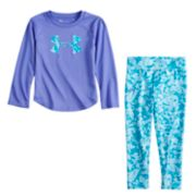 Toddler Girl Under Armour Logo Graphic Tee & Shatter Leggings Set