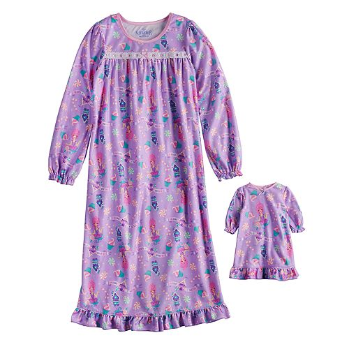 Disney's The Nutcracker and the Four Realms Girls 4-10 Sugarplum Fairy Nightgown & Matching Doll Nightgown