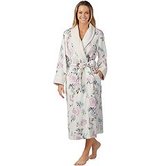 Women's Stan Herman Floral Plush Robe
