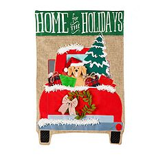'Home For the Holidays' Indoor / Outdoor Garden Flag