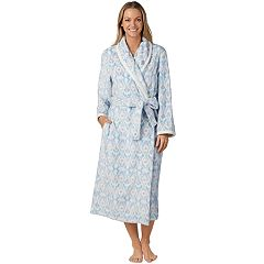 Women's Stan Herman Printed Plush Robe