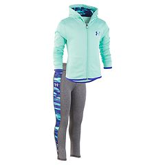 Toddler Girl Under Armour Fleece Hoodie & Space-Dye Performance Leggings Set
