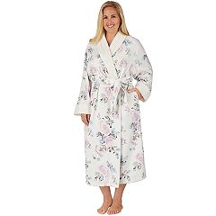 Plus Size Stan Herman Floral Plush Robe