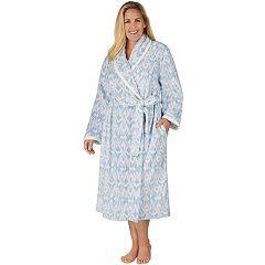 Plus Size Stan Herman Printed Plush Robe