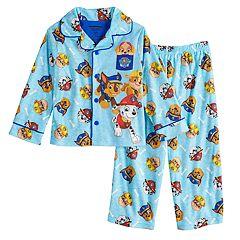Toddler Boy Paw Patrol Chase, Marshall & Rubble Top & Bottoms Pajama Set