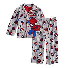 Toddler Boy Marvel Spider-Man 'Busy Saving The Day' Top & Bottoms Pajama Set