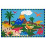 Fun Rugs Fun Time Dinosaur World Rug - 3'3'' x 4'10''