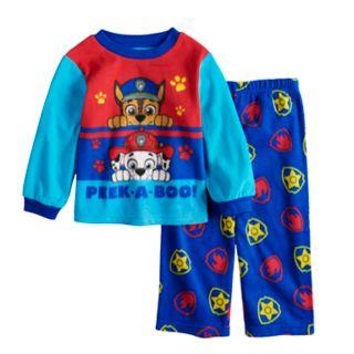 Toddler Boy Paw Patrol Chase & Marshall Top & Bottoms Fleece Pajama Set