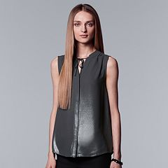 Women's Simply Vera Vera Wang Sleeveless Blouse