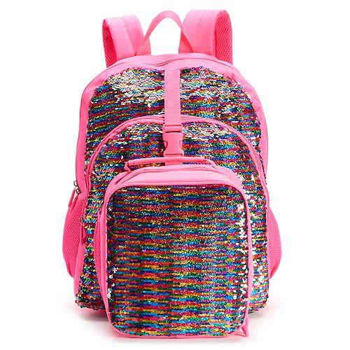 fcb9d306a3d0 Kids Flippable Sequin Backpack & Lunch Bag Set
