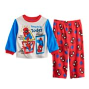 Toddler Boy Marvel Super Hero Adventures Spider-Man Fleece Top & Bottoms Pajama Set