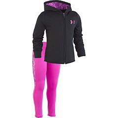 Toddler Girl Under Armour Logo Hoodie & Watercolor Leggings Set