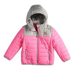 Baby Girl ZeroXposur Midweight Hooded Colorblock Quilted Jacket