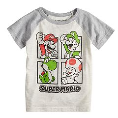 Toddler Boy Jumping Beans® Super Mario Bros. Raglan Graphic Tee