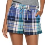 Women's SONOMA Goods for Life? Printed Flannel Shorts