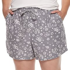 Plus Size SONOMA Goods for Life™ Printed Flannel Shorts