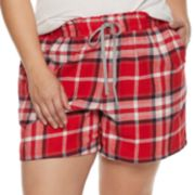 Plus Size SONOMA Goods for Life? Printed Flannel Shorts