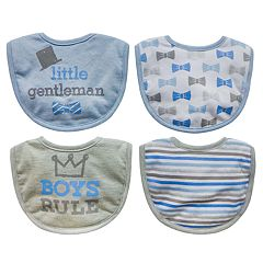 Baby Treasures 4-pack 'Little Gentleman' Bibs