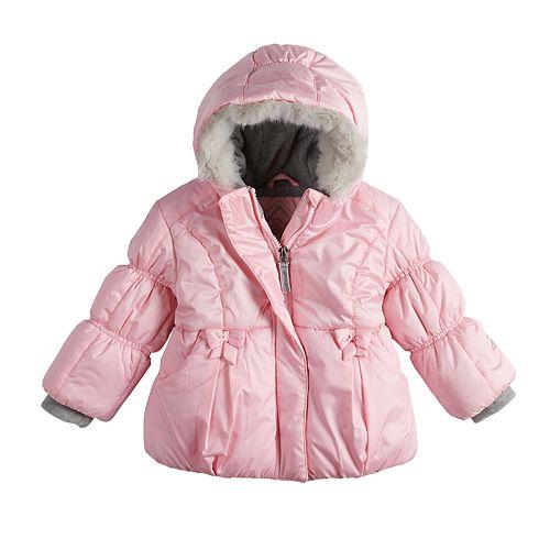 6a3de9e78a0b Baby Girl ZeroXposur Heavyweight Hooded Bow Puffer Jacket