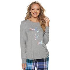 Women's SONOMA Goods for Life™ Ribbed Trim Pajama Tee