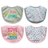 "Baby Treasures 4-pack ""Free Spirit"" Bibs"