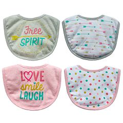 Baby Treasures 4-pack 'Free Spirit' Bibs