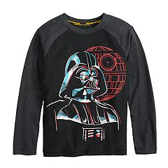 Boys 4-8 Star Wars a Collection for Kohl's Darth Vader Death Star Glow in the Dark Raglan Tee