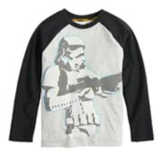 Boys 4-8 Star Wars a Collection for Kohl's Stormtrooper Glow in the Dark Raglan Tee
