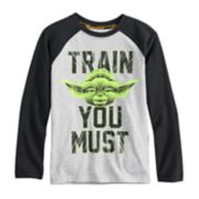 "Boys 4-8 Star Wars a Collection for Kohl's Yoda ""Train You Must"" Raglan Tee"