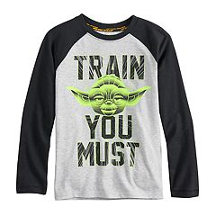 Boys 4-8 Star Wars a Collection for Kohl's Yoda 'Train You Must' Raglan Tee