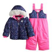 Baby Girl ZeroXposur Faux-Fur Heavyweight Puffer Jacket & Bib Snow Pants Set