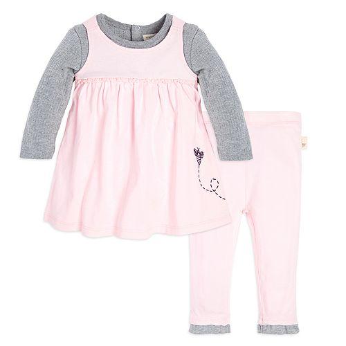 f3a7f1013 Baby Girl Burt's Bees Baby Organic Mock-Layer Dress & Pants Set