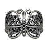 PRIMROSE Sterling Silver Filigree Butterfly Ring