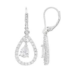 Napier Cubic Zirconia Teardrop Earrings