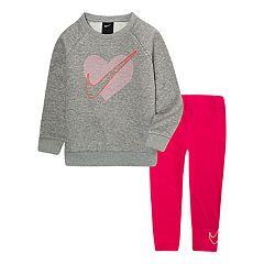 Toddler Girl Nike Logo Sweatshirt & Leggings Set